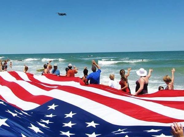 Beach Flyover 2012