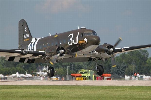 C-47 Landing at Oshkosh