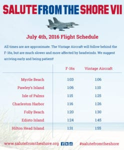 2016 Salute from the Shore flyover schedule