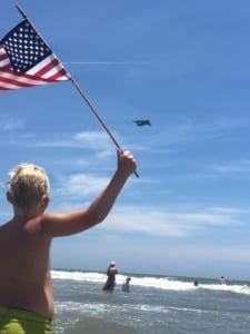 Jennifer Wright Crady Flag waving boy