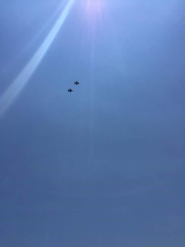 f-16s overhead