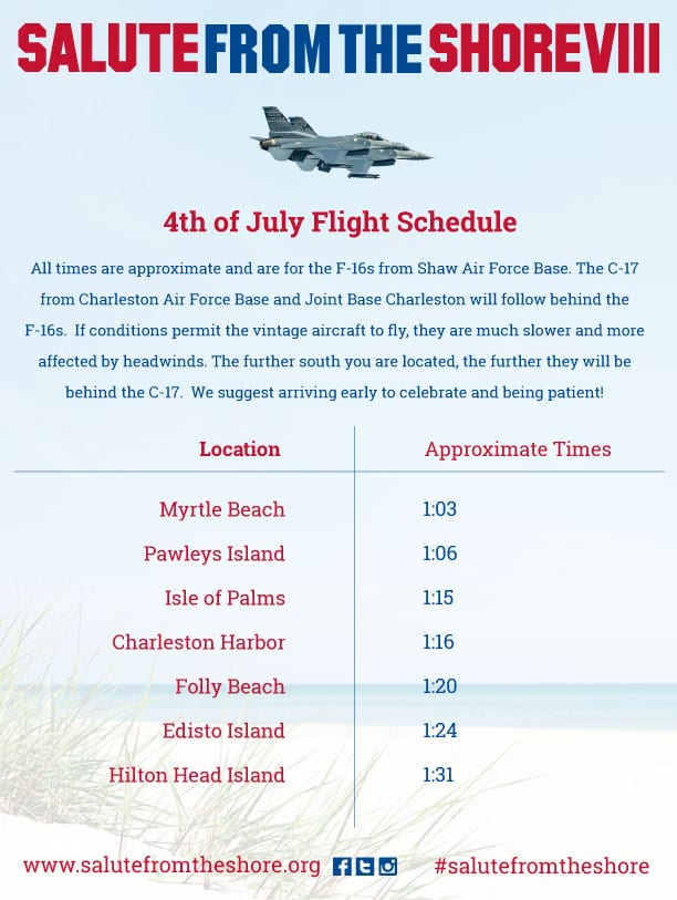 2017 Salute from the Shore Flight Schedule
