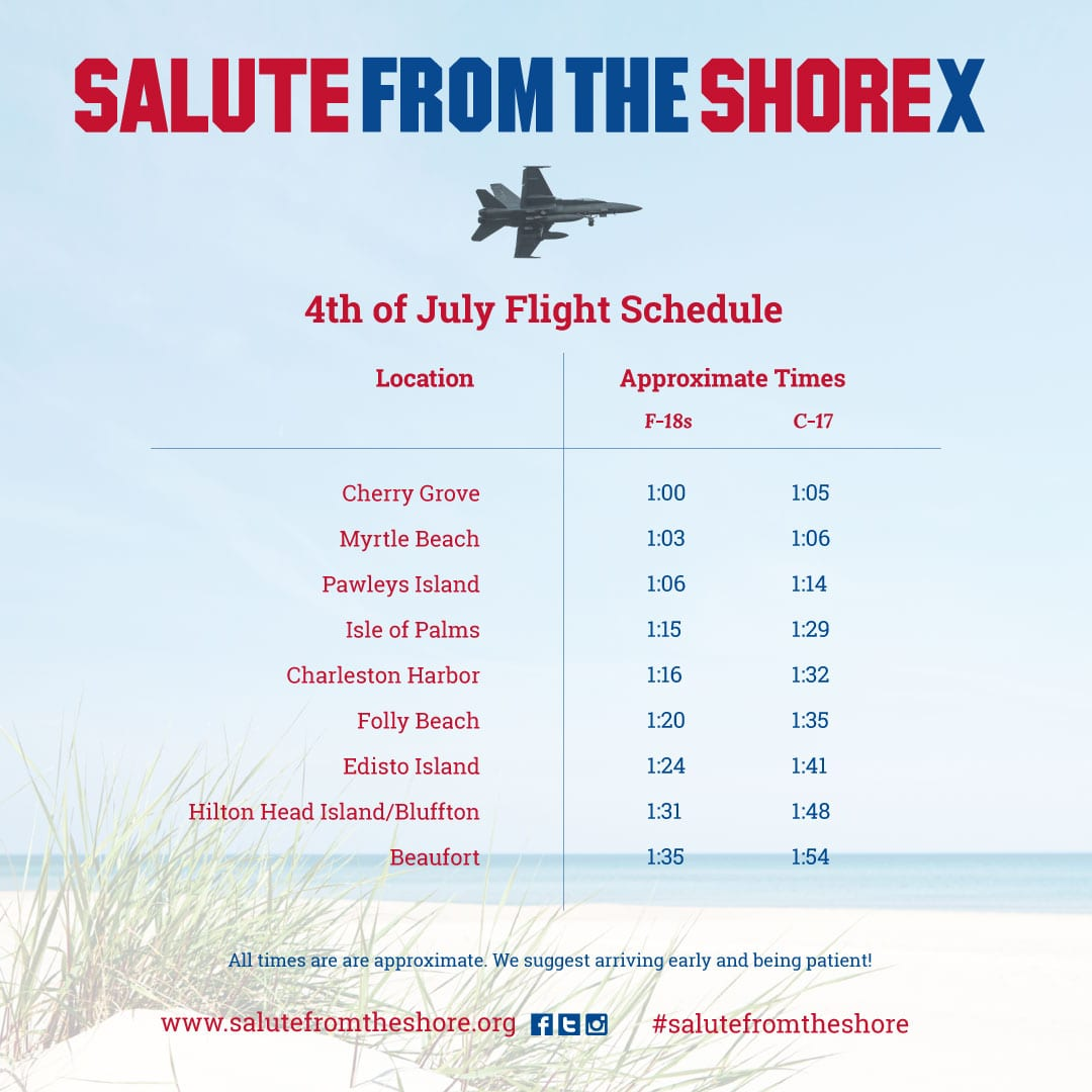 Salute from the Shore 2019 Schedule